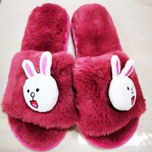 KESMALL Inventory Clearance Women Winter Home Slippers Cartoon Cat Non-slip Warm Indoors Bedroom Floor Shoes Plush Slippers S3(China)