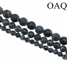 Wholesale 6-14mm natural Black carnelian Beads Dream Fire Dragon Veins for stone Beads for fashion jewelry making