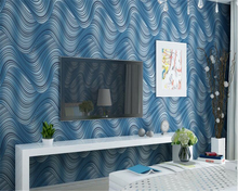 beibehang papel de parede Modern simple 3D stereo wave striped nonwoven fabric 3d wallpaper living room bedroom TV wall tapety