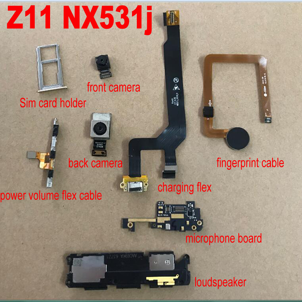 Original Front Or Rear Big Back Camera Module With Flex Cable For ZTE Nubia Z11 NX531j NX531 Usb Charging Board & Fingerprint