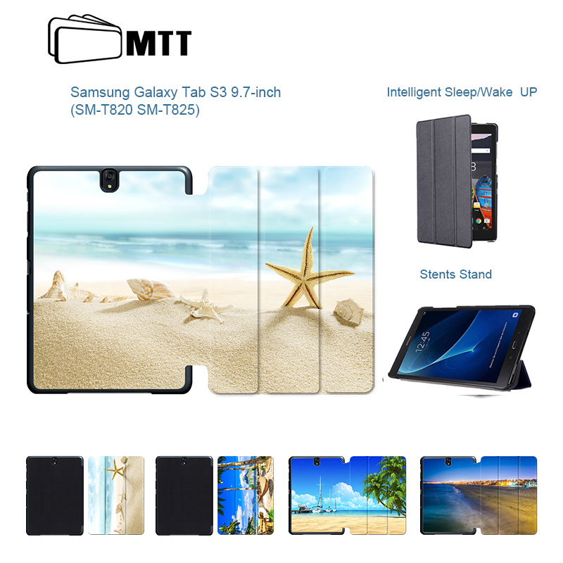 Fashion Beach Conch Flip PU Leather Case For Galaxy TAB S3 T820 T825 9.7 inch Tablet For Samsung Galaxy TAB S3 9.7 Stand CoverFashion Beach Conch Flip PU Leather Case For Galaxy TAB S3 T820 T825 9.7 inch Tablet For Samsung Galaxy TAB S3 9.7 Stand Cover