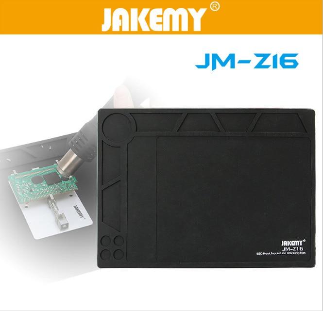 все цены на  JAKEMY ESD Heat Insulation Working Mat Heat-resistant BGA Welding Soldreing Station Repair Insulator Pad Tool For Electronic  онлайн