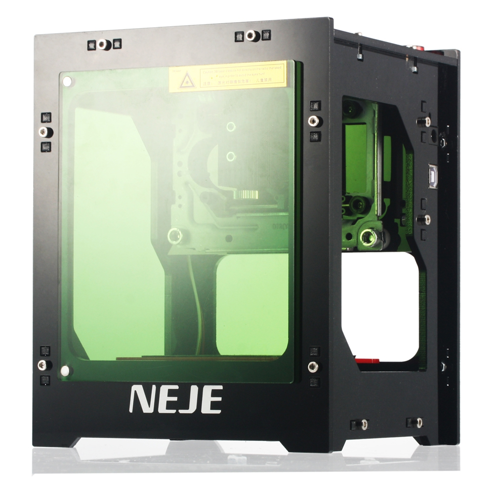 NEJE 1000 MW cortador láser Cnc Mini máquina de grabado láser DIY impresión 3D grabador de alta velocidad con gafas de protección