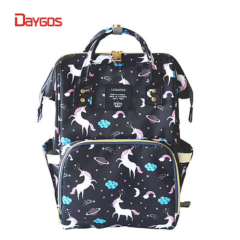 DAYGOS Women Unicorn Backpack Anti Theft Mom Diaper Bagpack Bag Kawaii Baby Bottle Maternity Nappy Nursing Bag for Baby Care ...