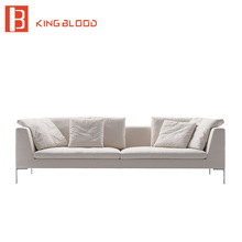 Italian modern white color living room couch lounge sofa design