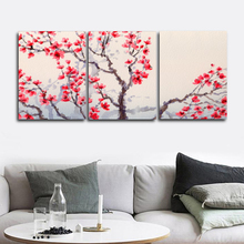 Laeacco Canvas Painting Calligraphy Classic Chinese Plum Posters and Prints Wall Art for Living Room Home Decoration Pictures