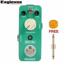 Mooer Green Mile Overdrive Guitar Effect Pedal Micro EffectsTrue Bypass with Free Connector and Footswitch Topper