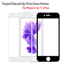 3D Curved Edge Full Cover Screen Protector For iPhone 6 7 Tempered Glass On The For iPhone 6 s 6s 7 8 Plus Protective Glass Film 0 3mm anti uv tempered glass screen film cover for iphone 6s 6 4 7 arc edge black