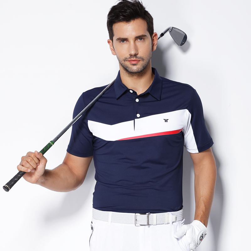 Teetimes New Arrival Men Golf Polo Shirts Summer Male Quick Dry Breathable T-shirt Short Sleeved Outdoor Sports Golf apparel