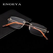 Alaşımı Çerçevesiz Gözlük Optik Gözlük Çerçevesi Erkekler Gözlük Temizle Reçete Gözlük Ultralight Şeffaf Gözlük # IP373