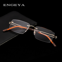 Alloy Rimless Glasses Optical Eyeglasses Frame Men Glasses C