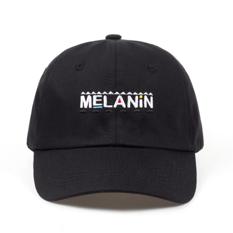 2018 new arrival MELANIN letter embroidery baseball cap women snapback hat adjustable men fashion Dad hats wholesale Hip Hop cap 2017 new men women good vibes dad hat embroidered baseball cap curved bill 100