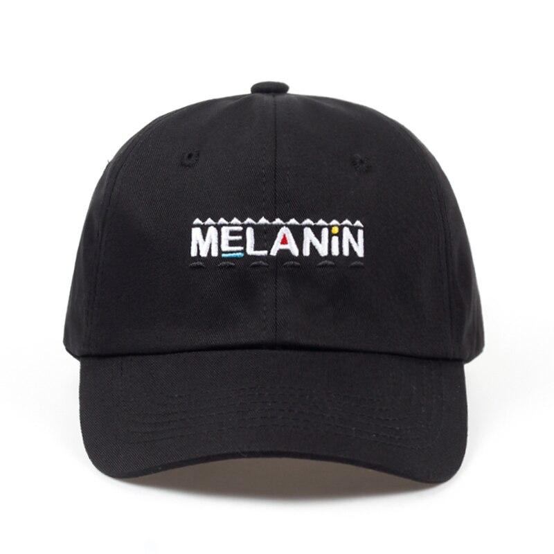 2018 new arrival MELANIN letter embroidery   baseball     cap   women snapback hat adjustable men fashion Dad hats wholesale Hip Hop   cap