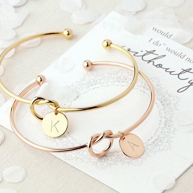 Новая мода Горячая розовое золото/серебряная буква браслеты и браслеты змея цепь женский браслет с шармами индивидуальность Имя ювелирные изделия