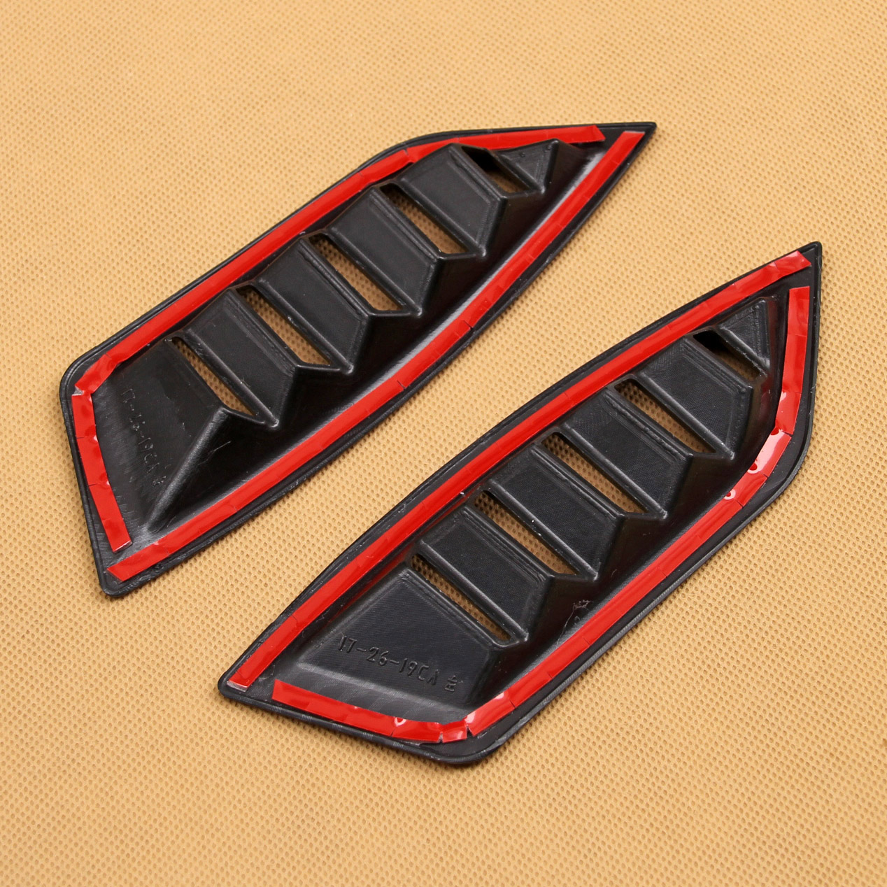 Carbon Fiber Look Car Interior Dashboard Air Vent Circulation Outlet