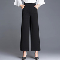 A generation of 2018 spring and summer fashion casual large size stretch 9 pants wide leg pants wild pants wholesale