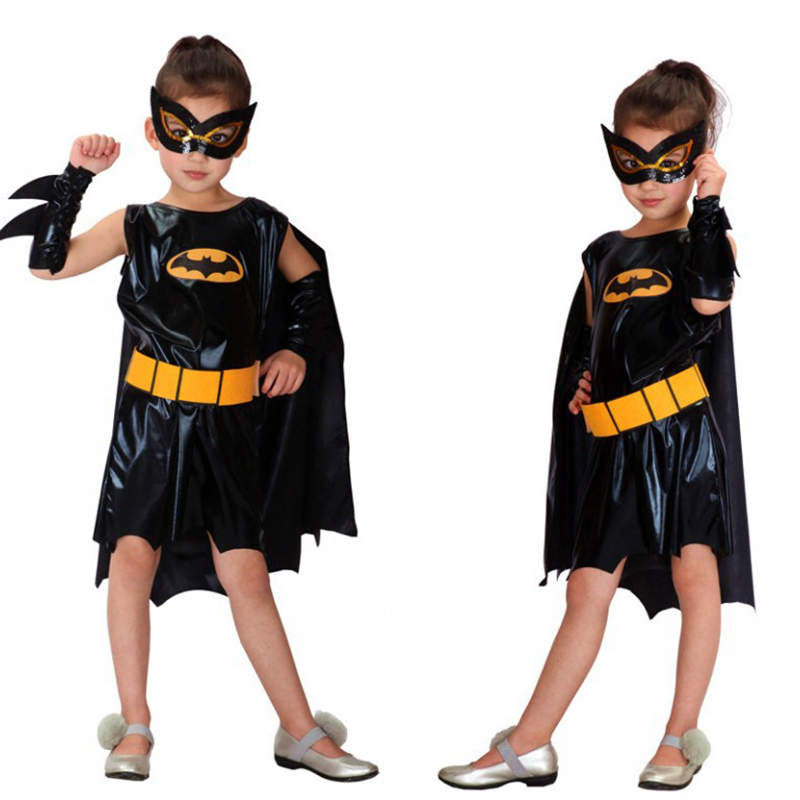 Quality children's Halloween Christmas cosplay role-playing costume 2018 new children Batman costume party costume girls superhe