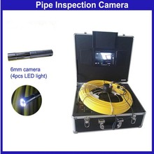 50m Cable Mini 6mm Pipe Inspection Camera with Mini Thermal Camera Head for More Small Drain Inspection
