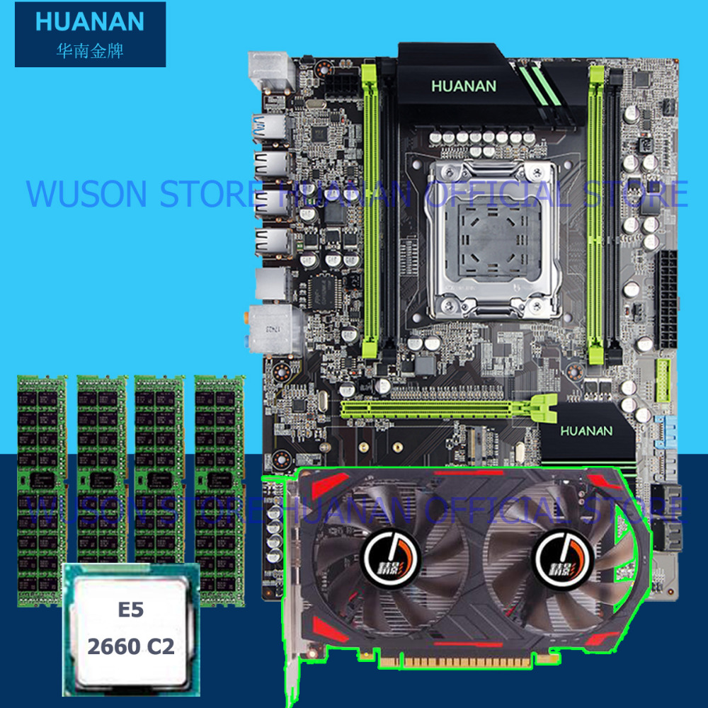Building perfect PC HUANAN X79 motherboard CPU RAM video card GTX750Ti 2G DDR5 Xeon E5 2660 SROKK RAM 16G DDR3 RECC all tested industrial motherboard mor 2vd j2k video card morphis y7142 03 video capture card 100% tested perfect quality