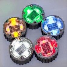 Solar Road Light Outdoor Cast Aluminum Warning Lights Underground Lawn Lamp Induction Landscape Indicator LED