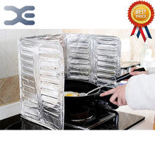 Kitchen Gas Stove Block Oil Plate Aluminum Foil Insulation Board Cooking Heat Insulation Grease Splashing Hot Baffle(China)