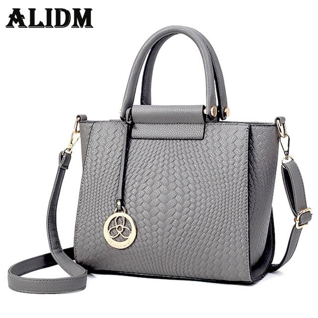a52b329ff172 ALIDM Designer wings PU leather handbags women large gray coat handbag  girls Messenger bag fashion ladies serpentine handbag