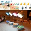 Protect Eyes Nightlight Clip Retro Cartoon Mini Reading Bedroom Student Children Bedside Creative Desk Table Lamp LED Book Light