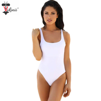 2016 Backless White Swimwear Women Swimsuit Summer Beach Vintage Retro Black One Piece Bathing Suits Swim