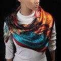 90 cm * 90 cm 2016 Nuevas Mujeres Bufanda l bufanda de seda larga bufanda chal de Moda de Alta calidad de invierno para mujeres