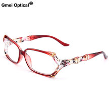 Nova Chegada Gmei Colorido Óptico Urltra-TR90 Ultra-leves Mulheres óculos de Aro Cheio Ópticos Miopia Óculos de Plástico Quadros Feminino M1242