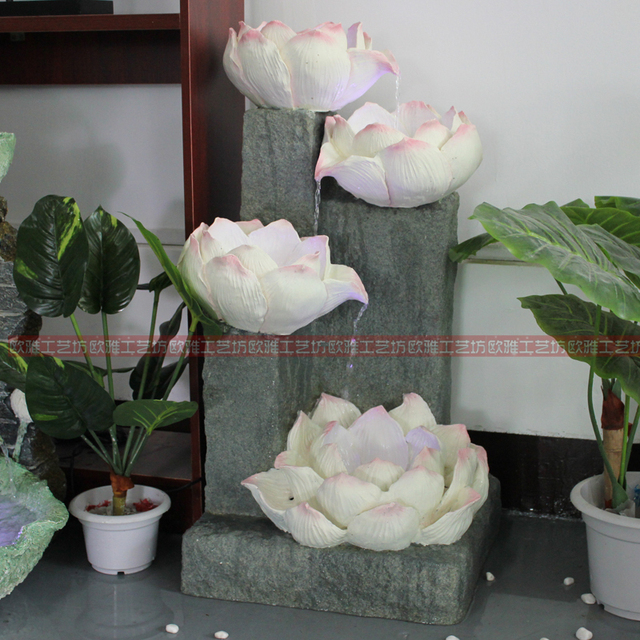 Large Indoor Water Fountain Chinese waterscape rockery large indoor water fountain feng shui chinese waterscape rockery large indoor water fountain feng shui ornaments lucky lotus pond bonsai display technology workwithnaturefo