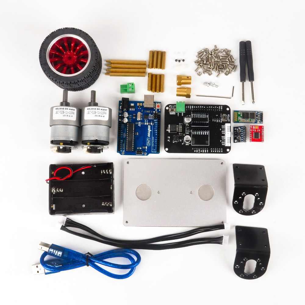 OSOYOO RC два колеса самобалансирующийся робот автомобильный комплект для OSOYOO DIY образовательный стартовый комплект, Bluetooth пульт дистанционного управления на Android