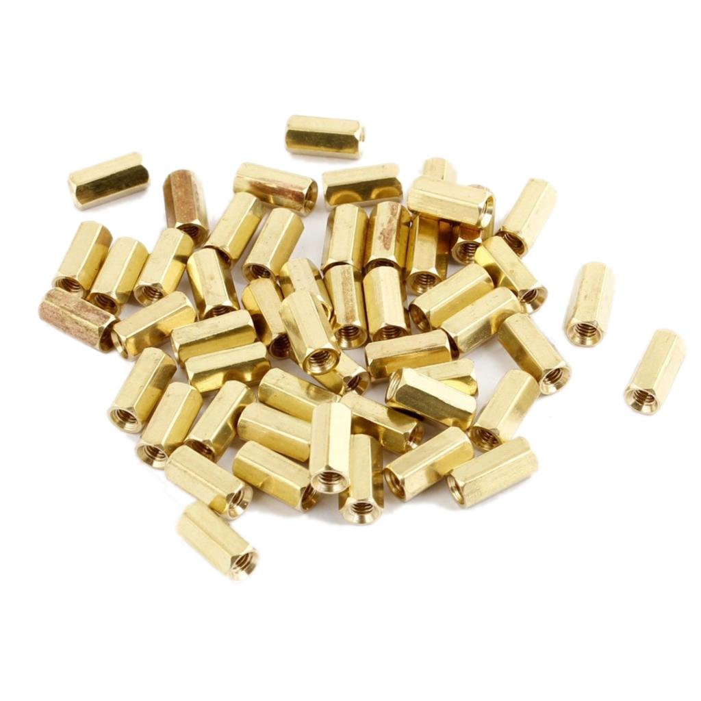 CLOS 50Pcs M3 Male Thread Hex Standoff Hexagonal Spacer css 50 pcs gold tone hexagonal 18mm long m3 female thread standoff spacer