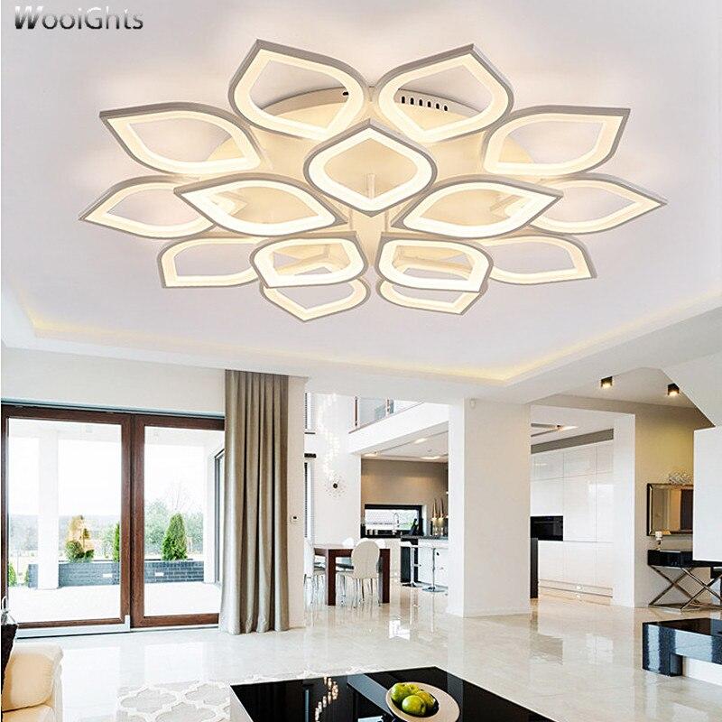 купить Wooights Modern Led Ceiling Lights For Living Room Study Room Bedroom Home Dec lamparas de techo Modern Led Ceiling Lamp по цене 6201.37 рублей