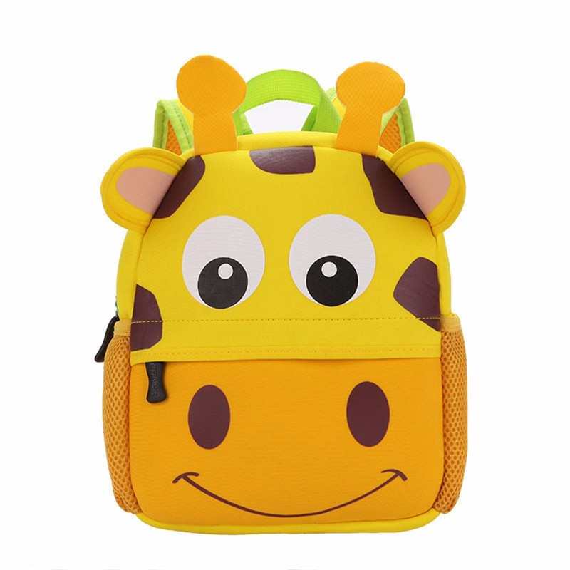 2017 3D Cute Animal Design Backpack Kids School Bags For Girls Boys Cartoon Shaped Children Backpacks 2017 free shipping new autumn winter long down big fur coat padded slim women fashion high street coats