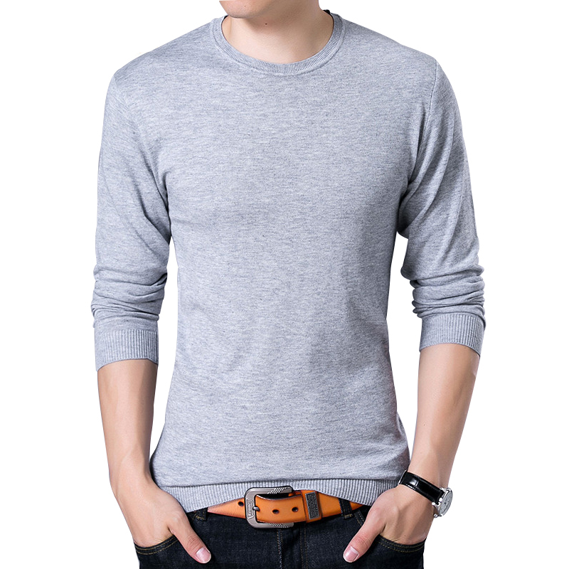 2018 New Men Knit Sweater Fashion Solid Mens O-neck Pullovers Soft Wool Sweaters Plus Size Pullover Men Brand Clothing