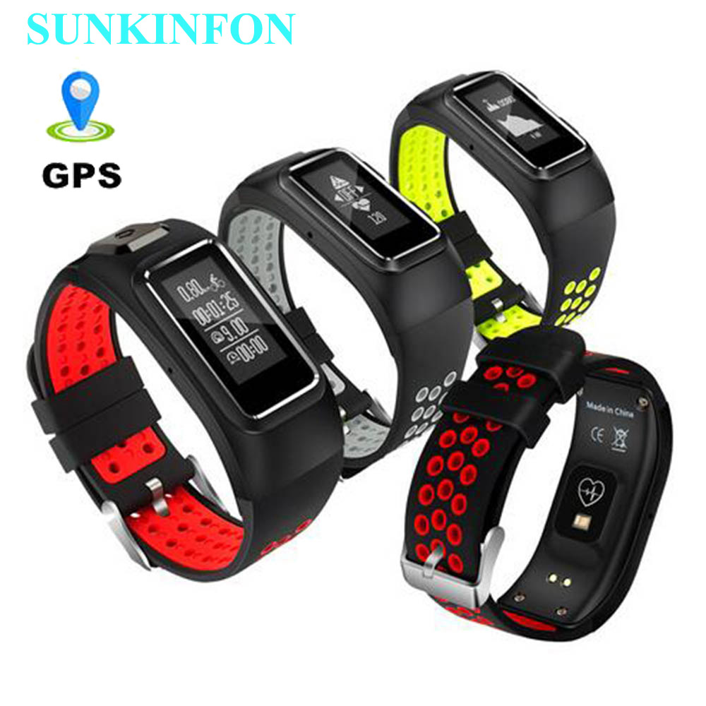DB10 GPS Motion Track Record Smart Wristband Band Dynamic Heart Rate Pedometer Bracelet for Motorola Huawei OPPO ViVo HTC Phones