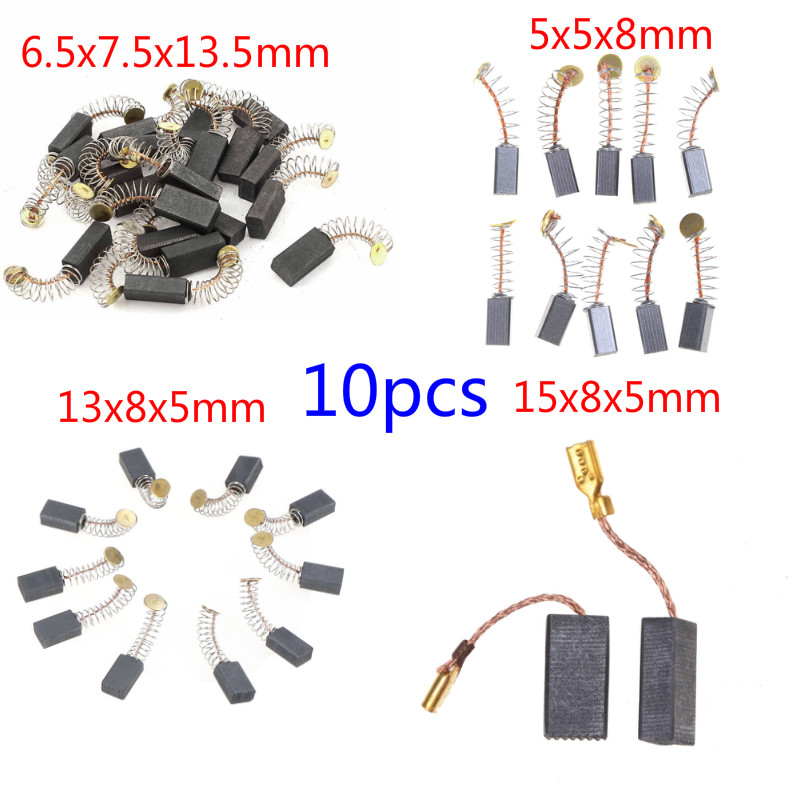 10Pcs Carbon Brushes Spare Parts Mini Drill Electric Grinder Replacement For Electric Motors Rotary Tool