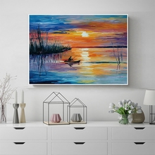 Laeacco Abstract Sunrise Graffiti Wall Art Posters and Prints Canvas Calligraphy Painting Living Room Home Decoration