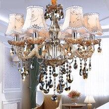 Современные Люстры, K9 люстры de cristal lustre moderne для домашнего освещения Спальня Кухня Столовая Хрустальная люстра, лампа