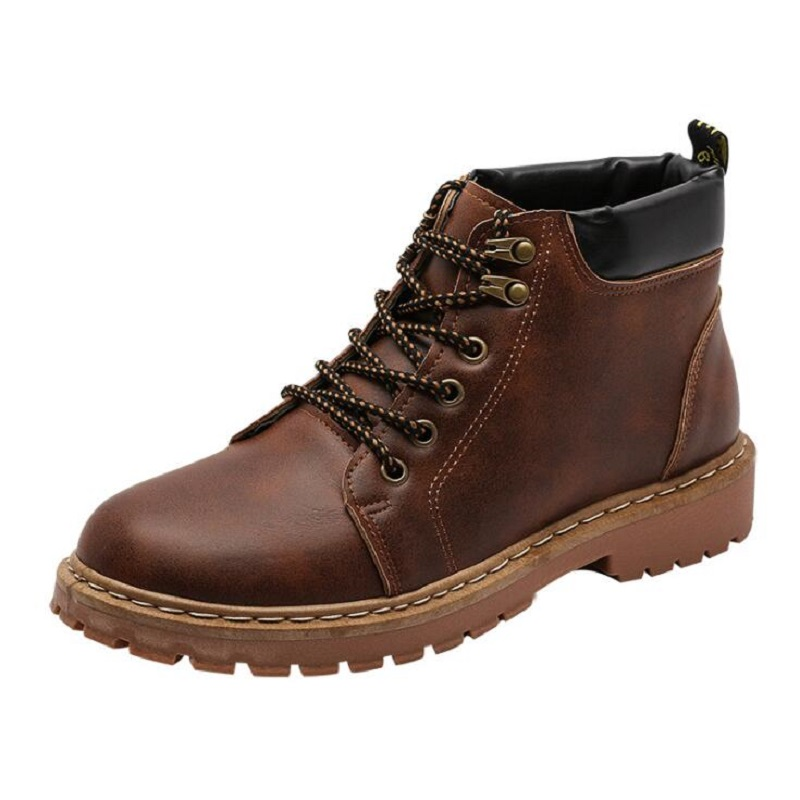 Amshca todos os jogos homens botas de trabalho outono lazer tornozelo boot para o homem adulto plataforma de segurança masculino bota cor preto cinza amarelo marrom