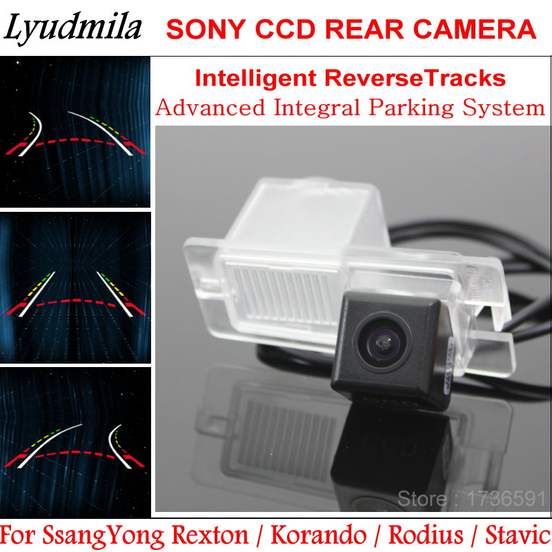 Lyudmila FOR SsangYong Rexton Korando Rodius Stavic Car Dynamic Trajectory Rear View Camera with Variable Parking