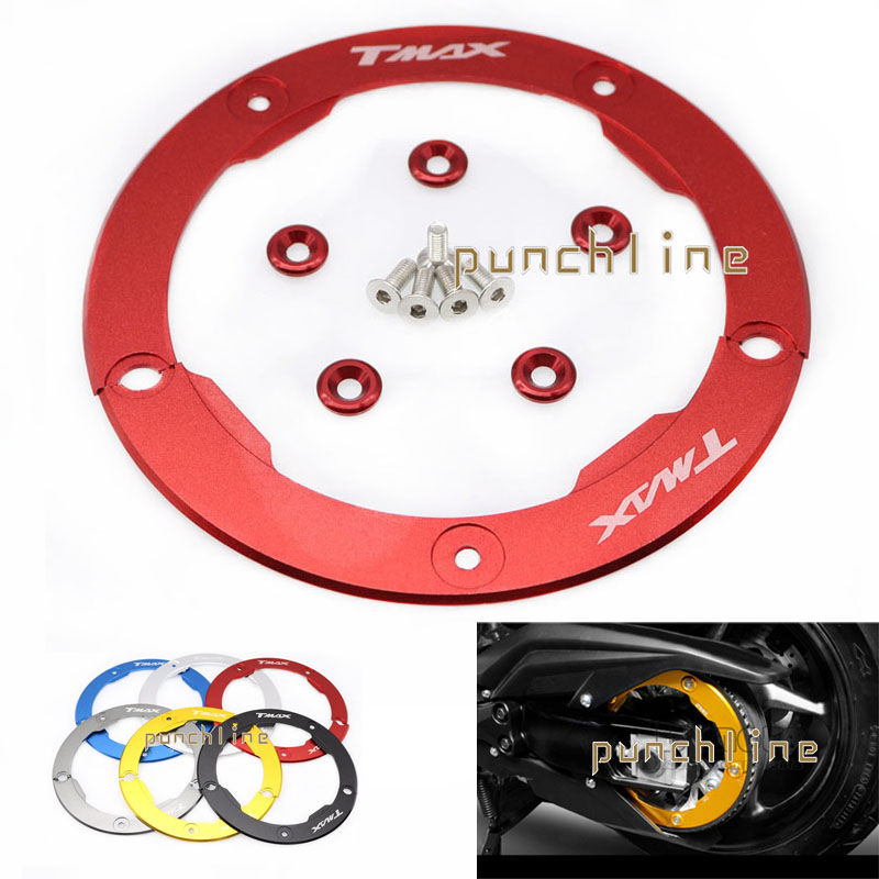 For YAMAHA T MAX 530 TMAX530 T-MAX530 TMAX 530 2012-2015 Motorcycle Aluminum Transmission Belt Pulley Protective Cover 6 Colors
