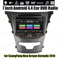 Android4 4 Car DVD Support DVR DAB OBDII TPMS GPS BT 3G WiFi For S SangYong