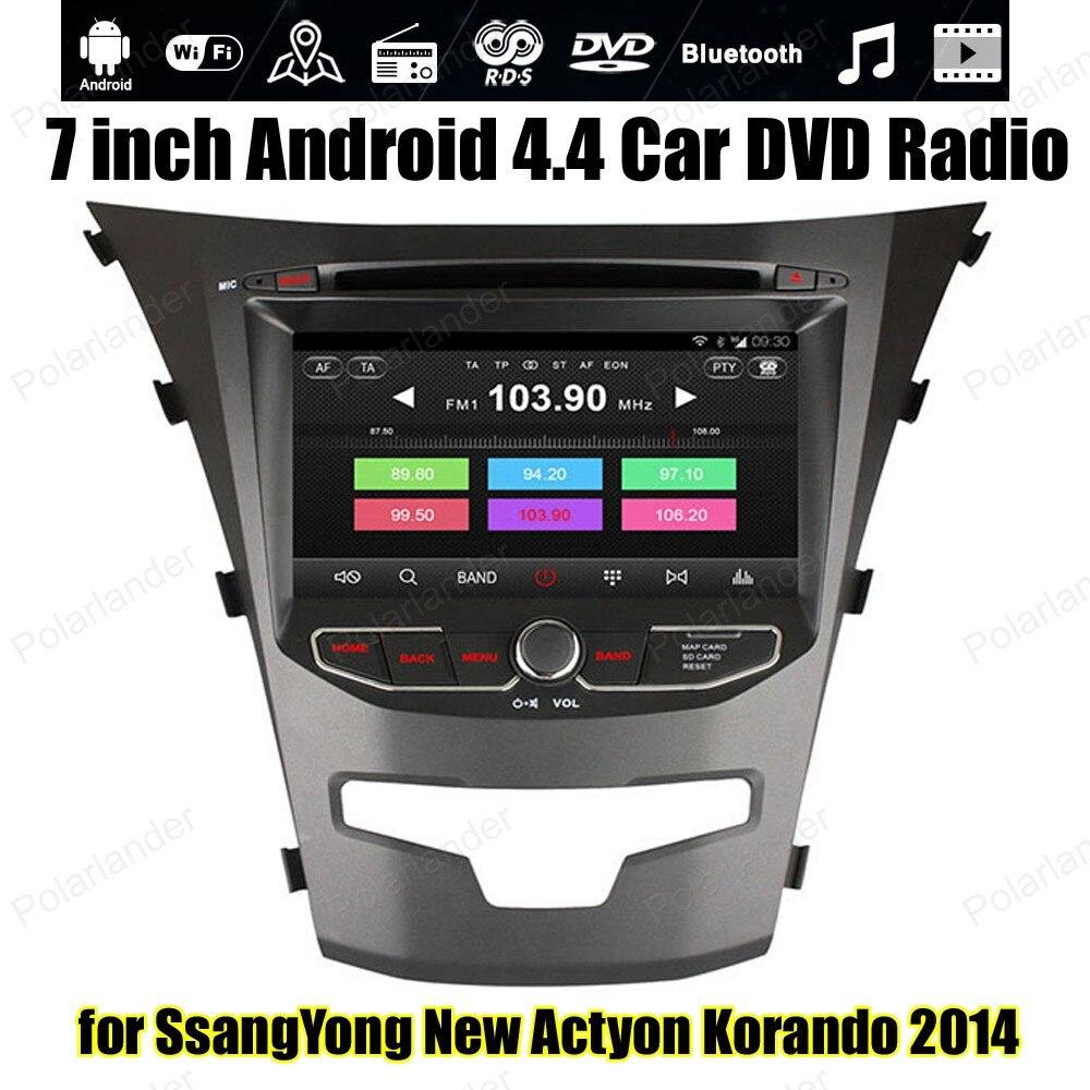 Android4.4 voiture DVD Support DVR DAB + OBDII TPMS GPS BT 3G WiFi pour S/sangYong nouveau Ac/tyon Ko/rando 2014 Quad Core radio