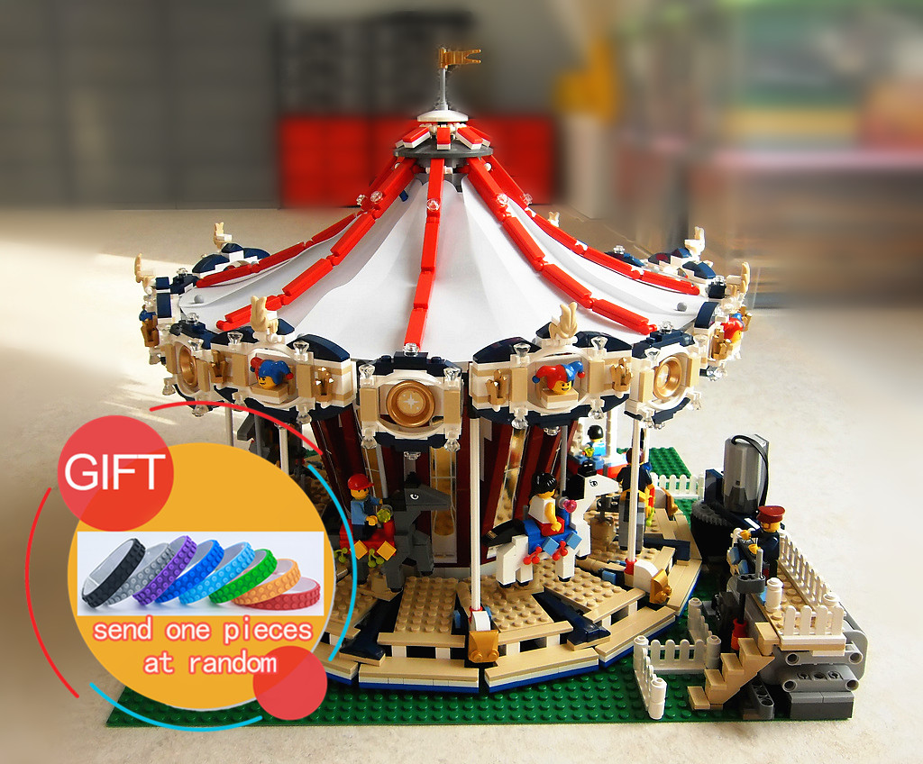 15013 3263Pcs City Sreet Ceator Carousel Model Building Kits Mini Toy Compatible with 10196 toys lepin lepin 15013 city sreet carousel model building kits blocks toy compatible 10196 with funny children educational lovely gift toys