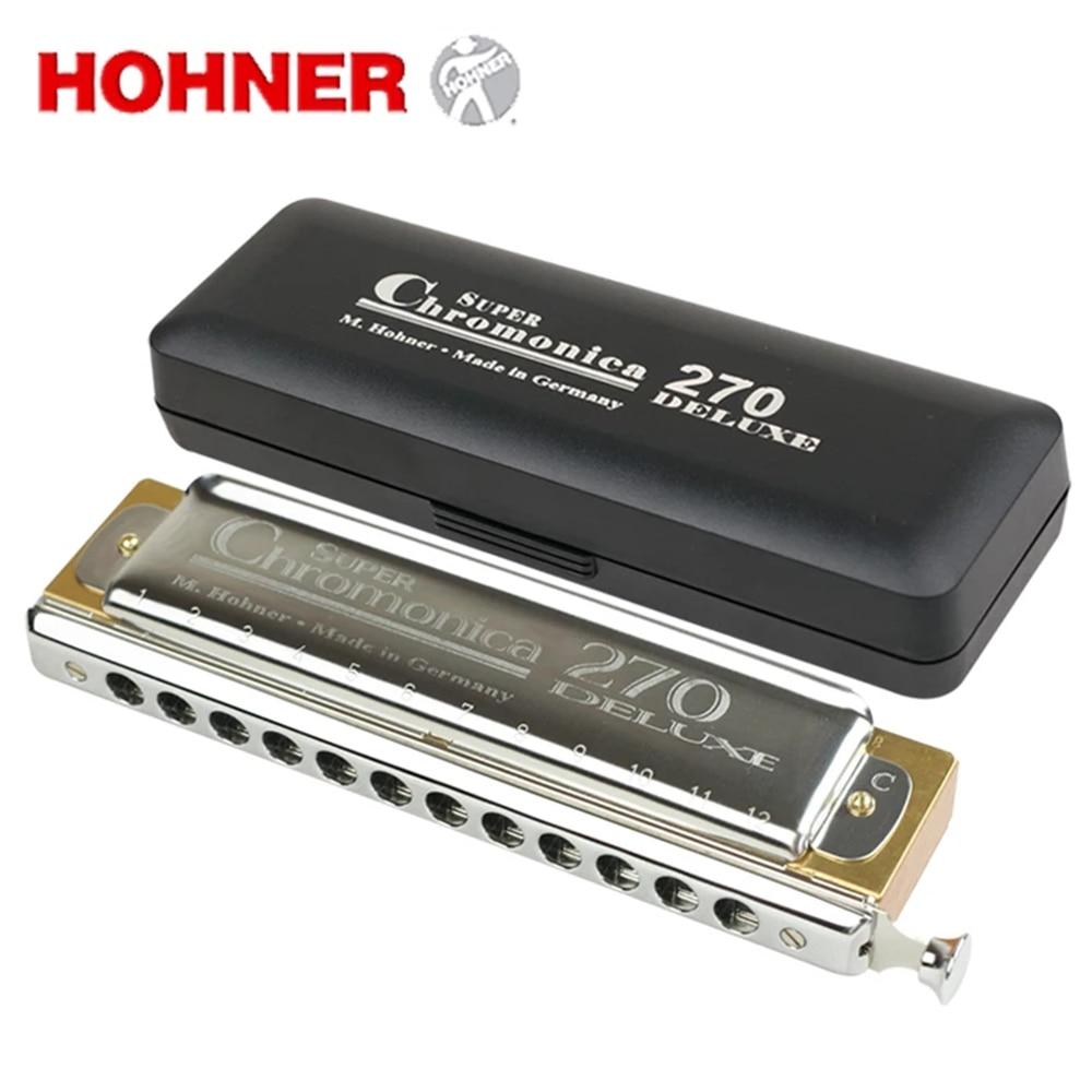 Hohner Super Chromonica 270 Deluxe Armonica Cromatica 12 Fori Bocca Organo Instrumentos Tasto C Strumenti Musicali Pearwood Pettine