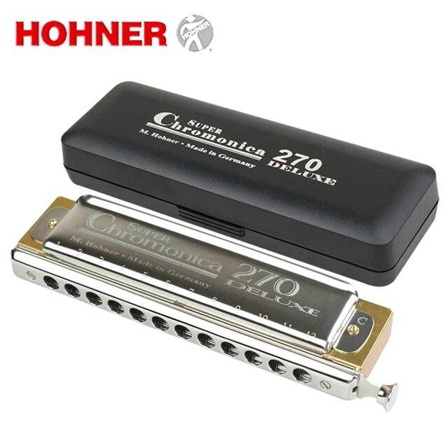 hohner super chromonica 270 deluxe chromatic harmonica 12 holes mouth organ instrumentos key c. Black Bedroom Furniture Sets. Home Design Ideas