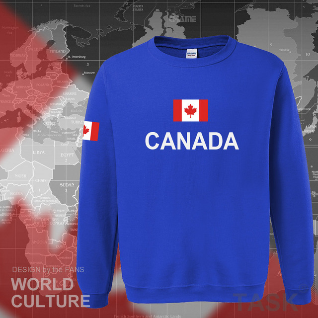 Canada 2017 hoodies men sweatshirt sweat new streetwear clothing jerseys footballer tracksuit nation Canadians flag fleece CA 3