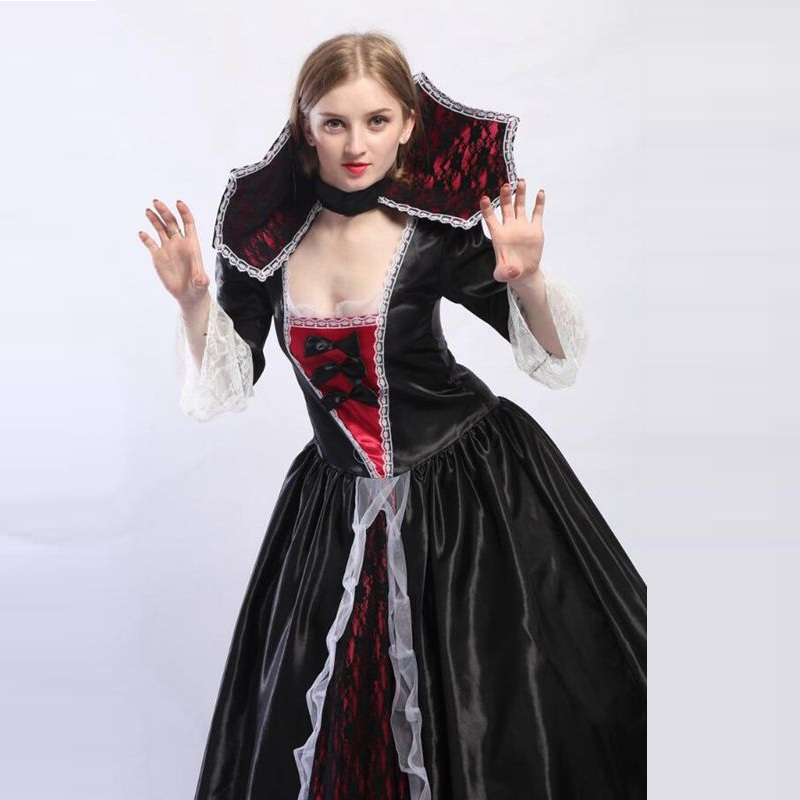 Deluxe Halloween Costume Adult Female V&ire Queen Costumes Zombie Queen Long Dress Vendetta Mask Party Joker Dress-in Holidays Costumes from Novelty ...  sc 1 st  AliExpress.com & Deluxe Halloween Costume Adult Female Vampire Queen Costumes Zombie ...
